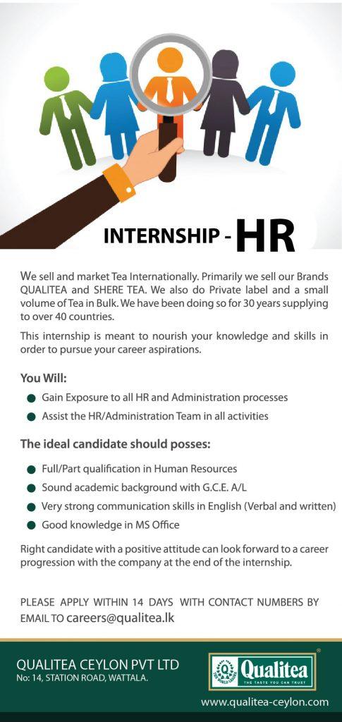 HR Internship Vacancy